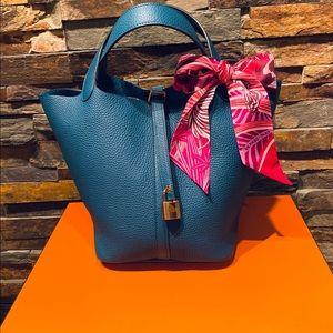 Hermès picotin 22 - vert bosphore new 2019